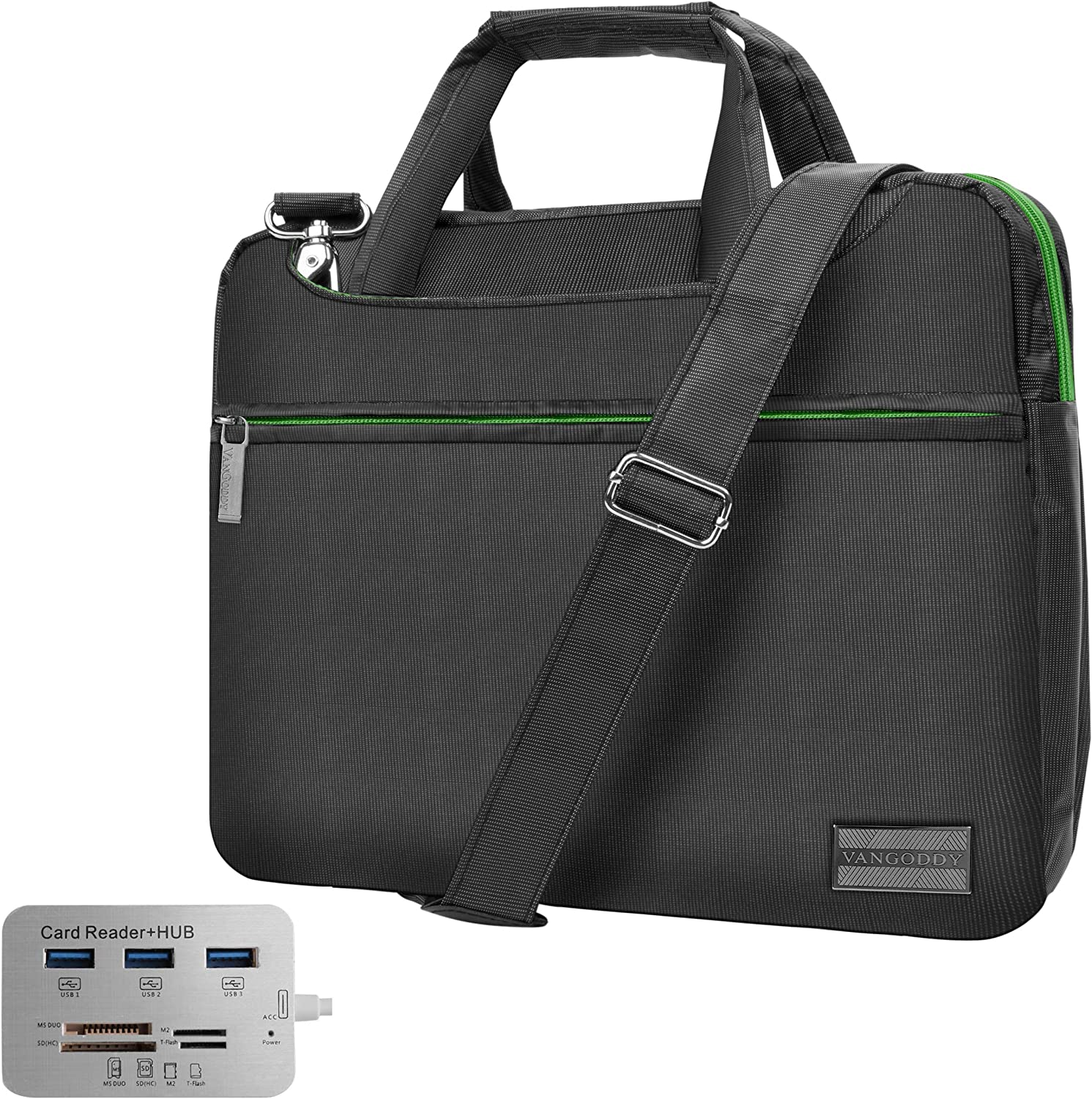 Green 13.3 inch Laptop Bag, USB C Hub for Lenovo IdeaPad, N, ThinkBook, ThinkPad, Yoga, 500e 100e 300e ChromeBook