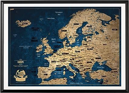 Mapa de viaje con pin de empuje, diseño de colores creativos, mapa ...