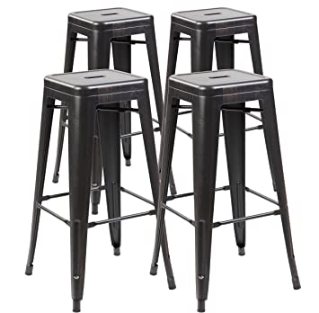 Awe Inspiring Amazon Com Anji Modern Furniture 30 Inches Tolix Style Creativecarmelina Interior Chair Design Creativecarmelinacom