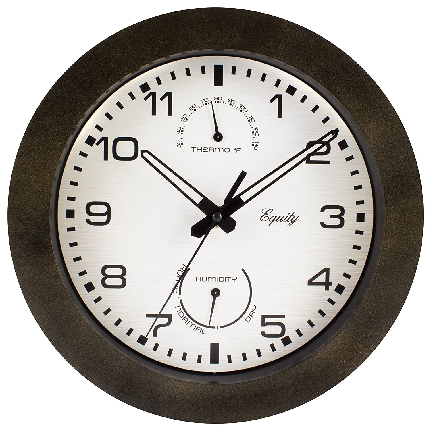 Amazon equity by la crosse 29005 outdoor thermometer and amazon equity by la crosse 29005 outdoor thermometer and humidity wall clock 10 brown home kitchen amipublicfo Choice Image