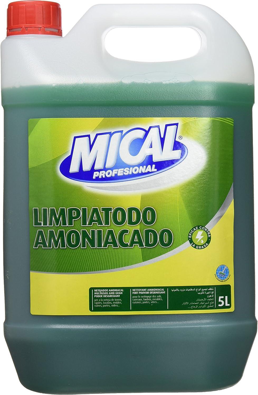 Mical Profesional Limpiatodo Amoniacado Eficaz Contra La Grasa - 5000 ml