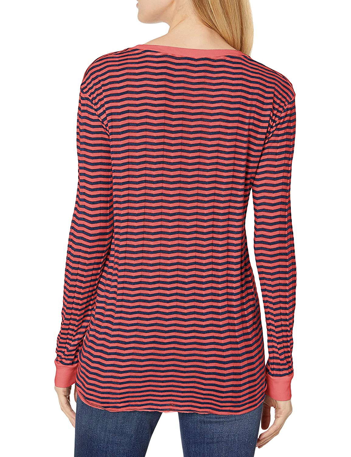 Three Dots Womens Long Sleeved Knot Top
