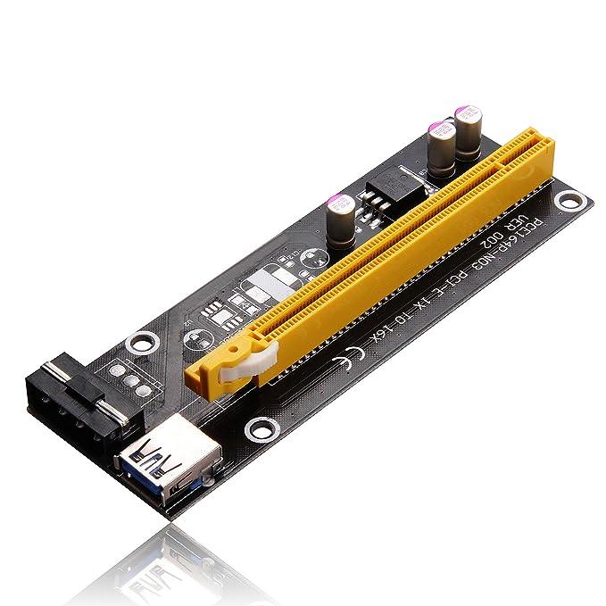 Amazon.com: PCI-E 1 x A 16 x Mining máquina Enhanced ...