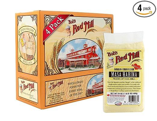 Bobs Red Mill Golden Masa Harina Corn Flour, 24-ounce (Pack of 4)
