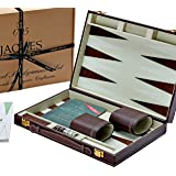 Jaques of London Backgammon Sets - 11 Inch - Luxury Backgammon Set - Great TRAVEL BACKGAMMON Set