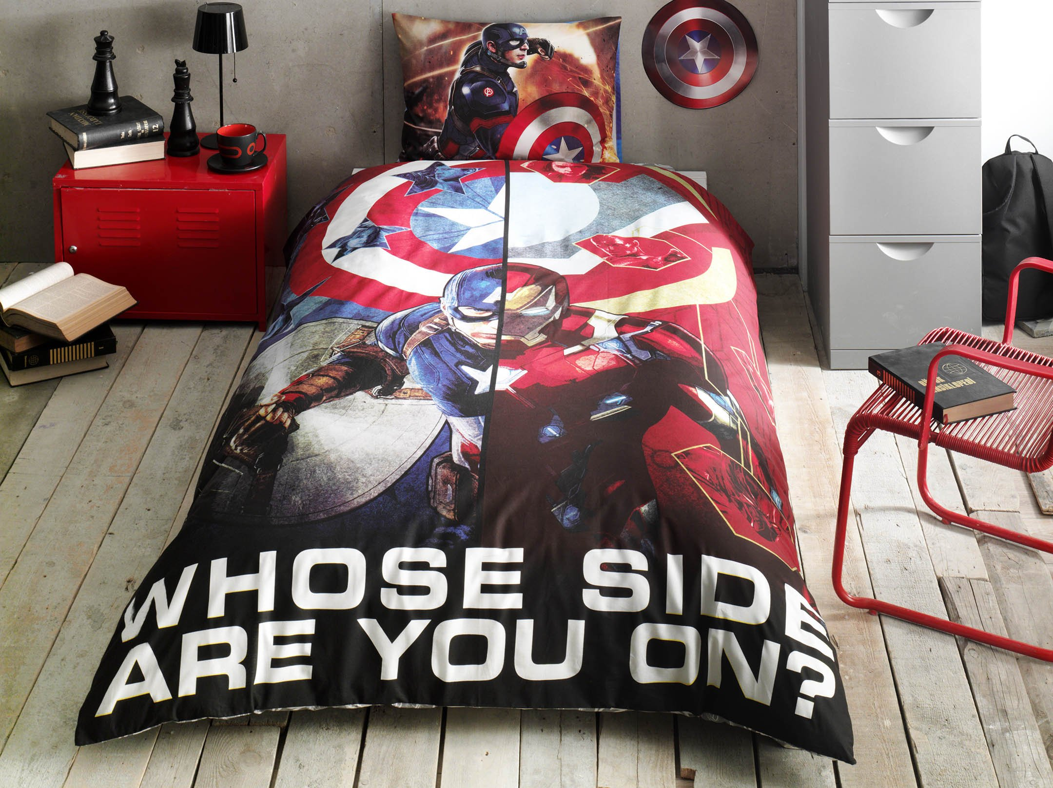 Captain America Movie Ranforce Duvet Quilt Cover Set Licenced Product