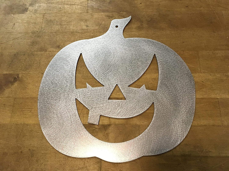 Halloween Pumpkin sign steel metal wall art decor