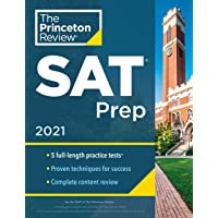 Princeton Review SAT Prep, 2021: 5 Practice Tests + Review and Techniques + Online Tools