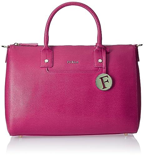 Furla Linda M Satchel - Bolso mochila de Piel Mujer 31x22x14 cm (B x H