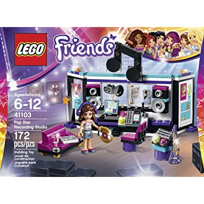 LEGO Friends 41103 Pop Star Recording Studio Building Kit: Toys & Games