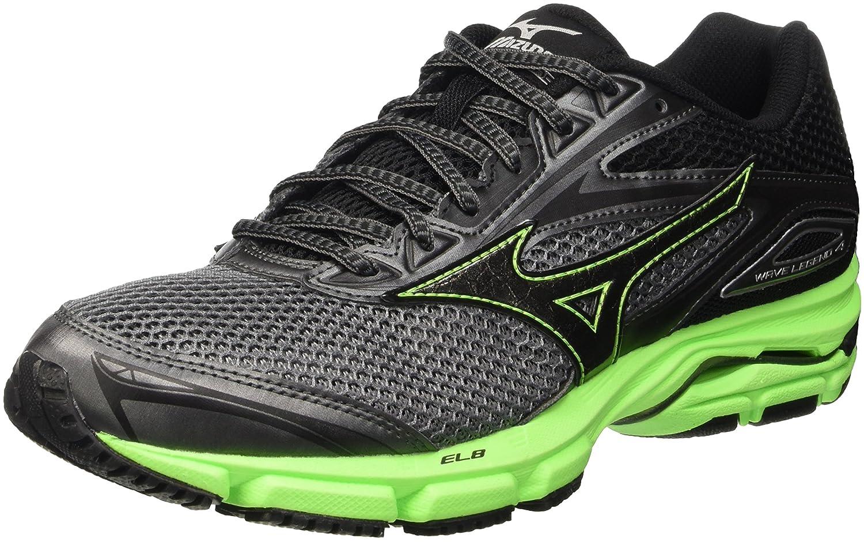 Mizuno Wave Legend - Zapatillas de Running de Competición Hombre 45 EU|Gris (Quietshade/Black/Greengecko)