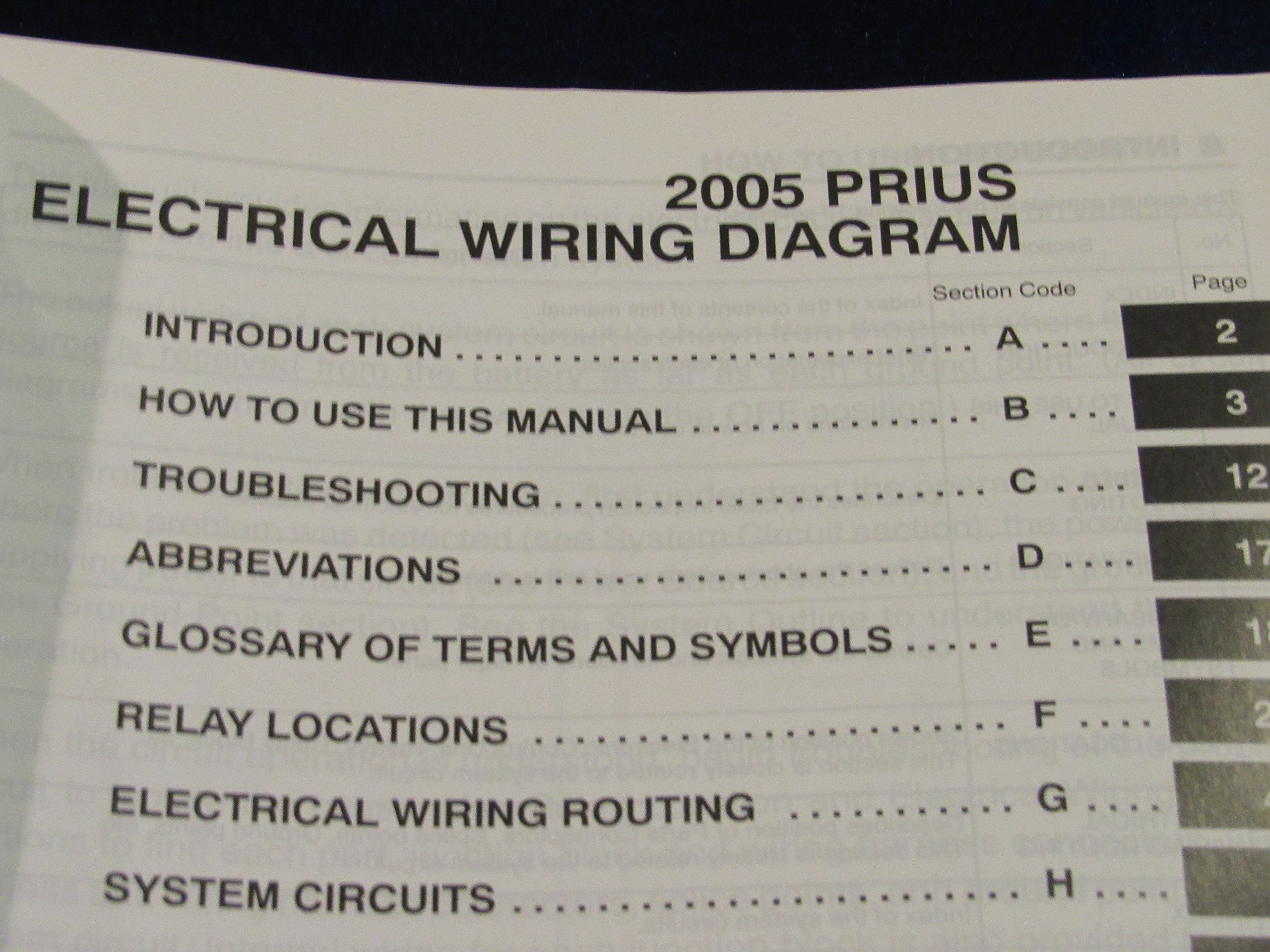 2005 Toyota Prius Electrical Wiring Diagram Manual Oem Amazon Com Books
