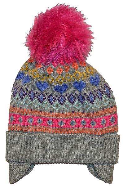 40f1c259b75 Amazon.com  GAP Kids Girls Fair Isle Pom Pom Fleece Lined Hat L XL  Clothing