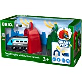BRIO World - Smart Tech - 33834 - LOCOMOTIVE INTELLIGENTE ET PORTIQUES