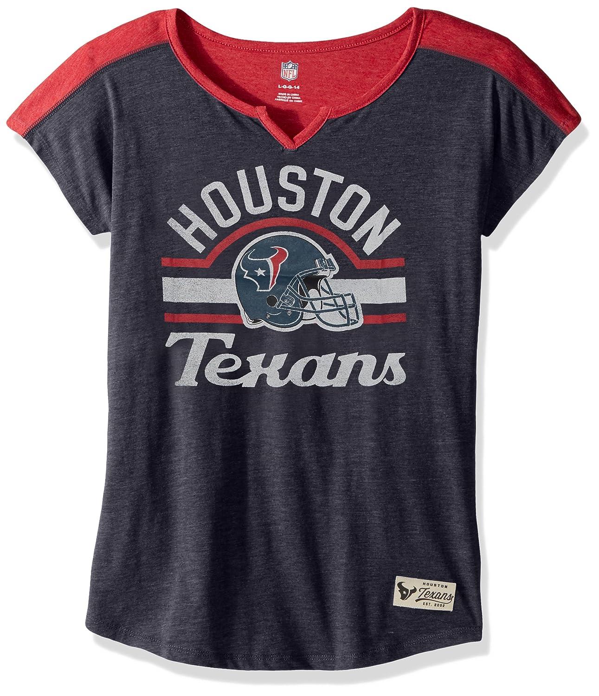 Houston Texans 10-12 Outerstuff NFL Girls 7-16Tribute Football Tee -Deep Obsidian-M