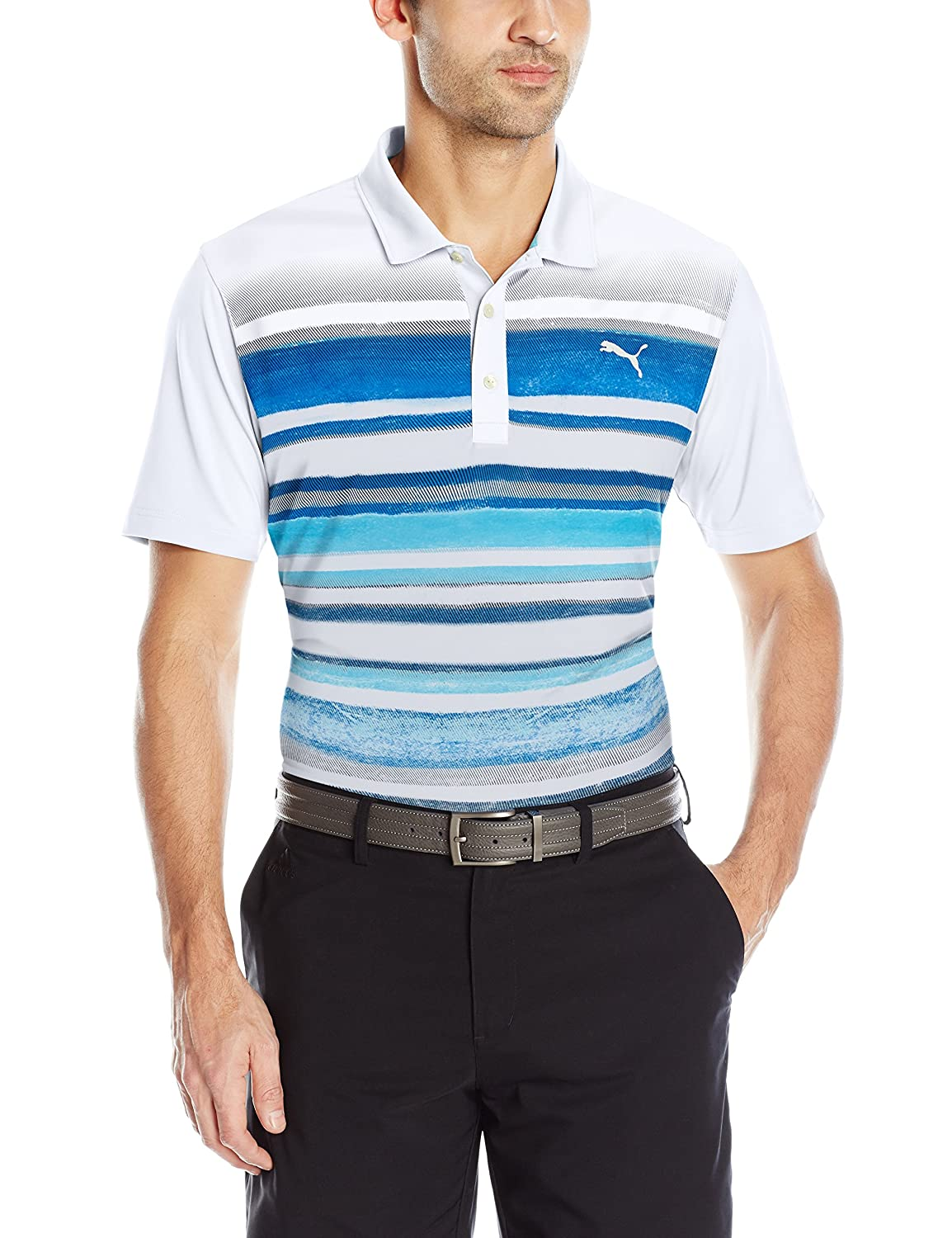 Puma Golf 2017 Herren Washed Stripe Polo