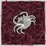 Kiwi Figurine Animalière Crabe en Etain Fin - Fabrication Française