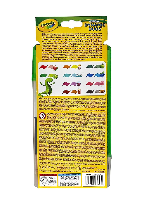 Crayola Dynamic Duos Super Tips Markers Binney /& Smith 04-6829
