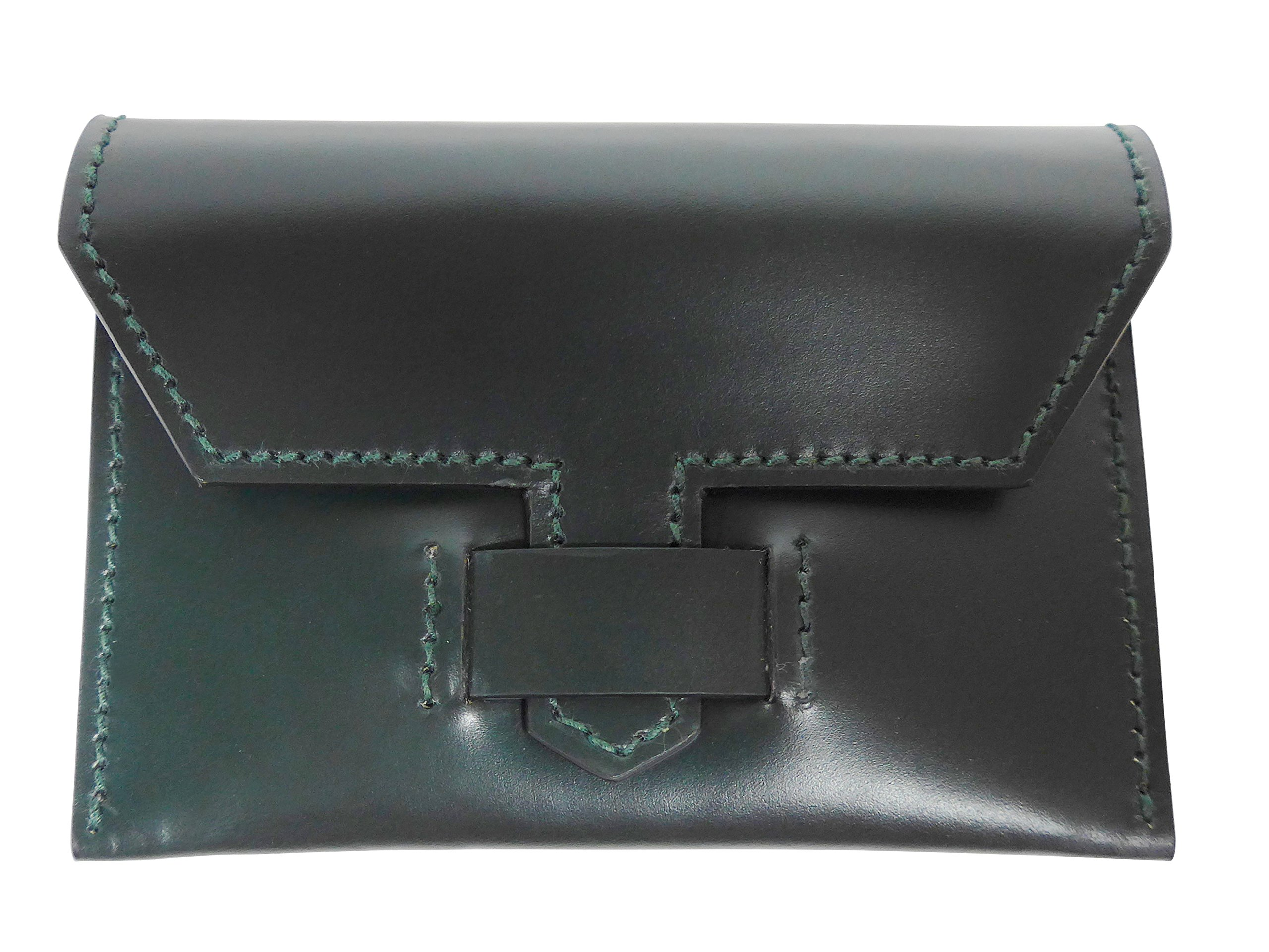 W & H Gidden Card Holder With Gidden Loop Closure Dark Green by W & H Gidden