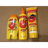 AVON NATURALS AMAZING APPLE 3 PIECE KID'S HAIR CARE PRODUCTS SET