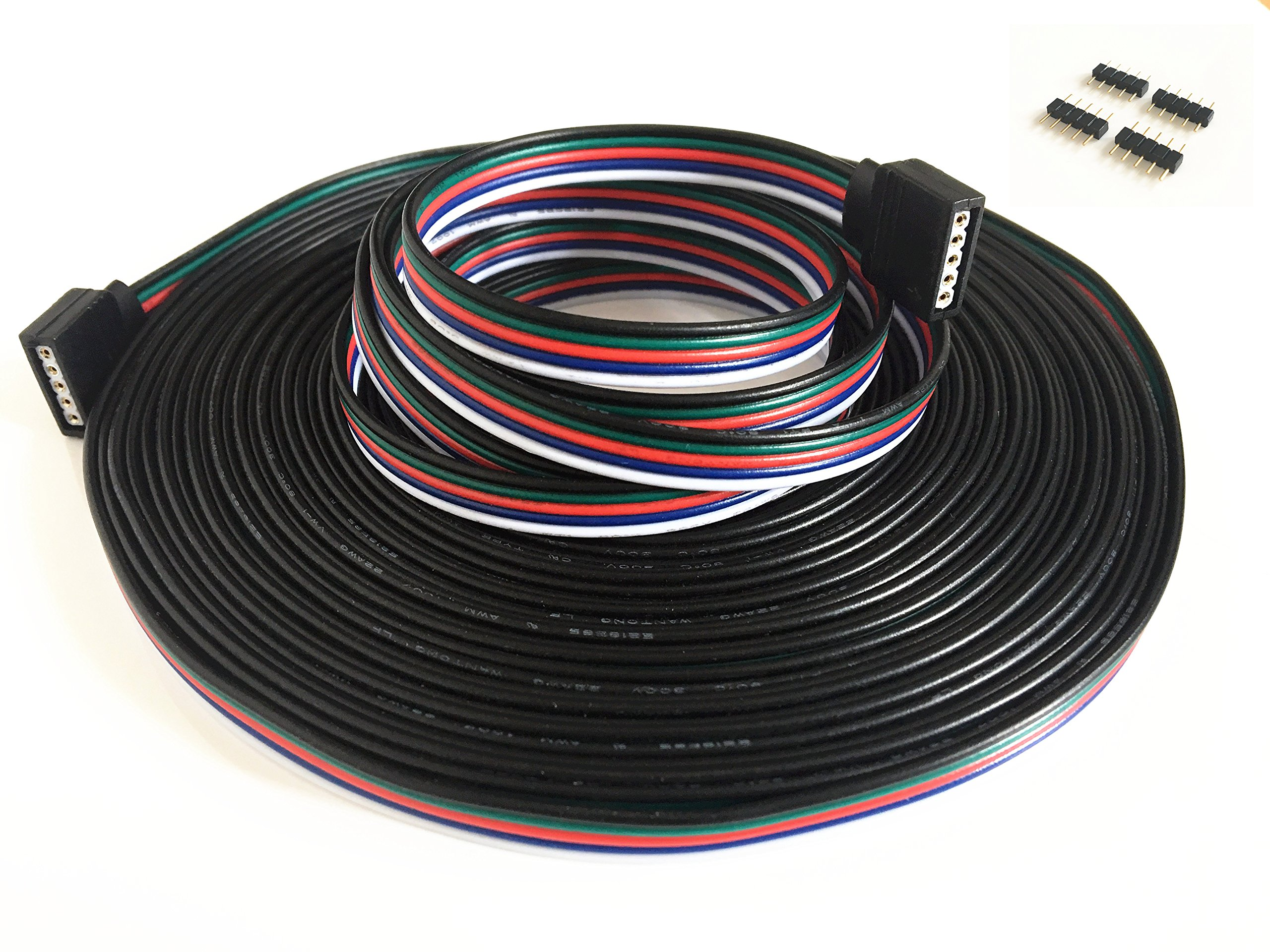 10m/32.8ft RGBW Extension, Cable Line with Full Copper Wires Inside for LED Strip RGBW 5050 3528 Cord 5pin ,RGBW Wire,RGB Extension Cable,led Extension Cable