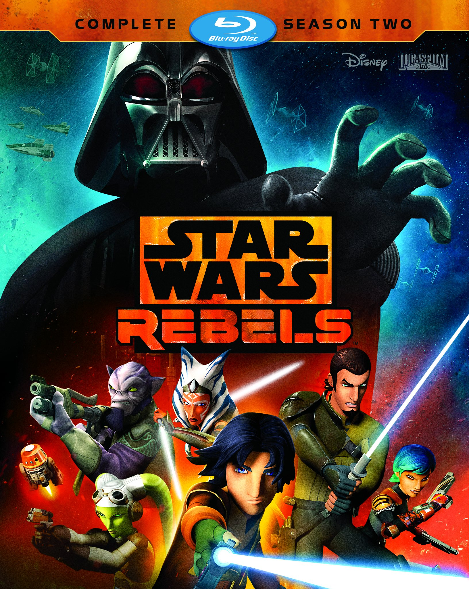 Blu-ray : Star Wars Rebels: Complete Season Two (, 3 Pack, Dolby, AC-3, Dubbed)
