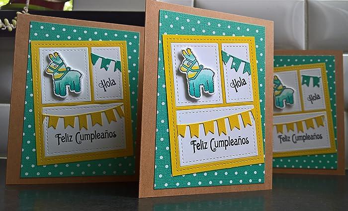 Amazon Pinata Birthday Card Spanish Birthday Card Happy