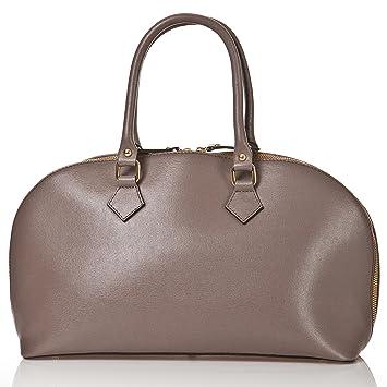 50b073fa4bb28 Abverkauf - Lagerräumung - Italienische Lederhandtasche - Henkeltasche  Cannes in Stein grau