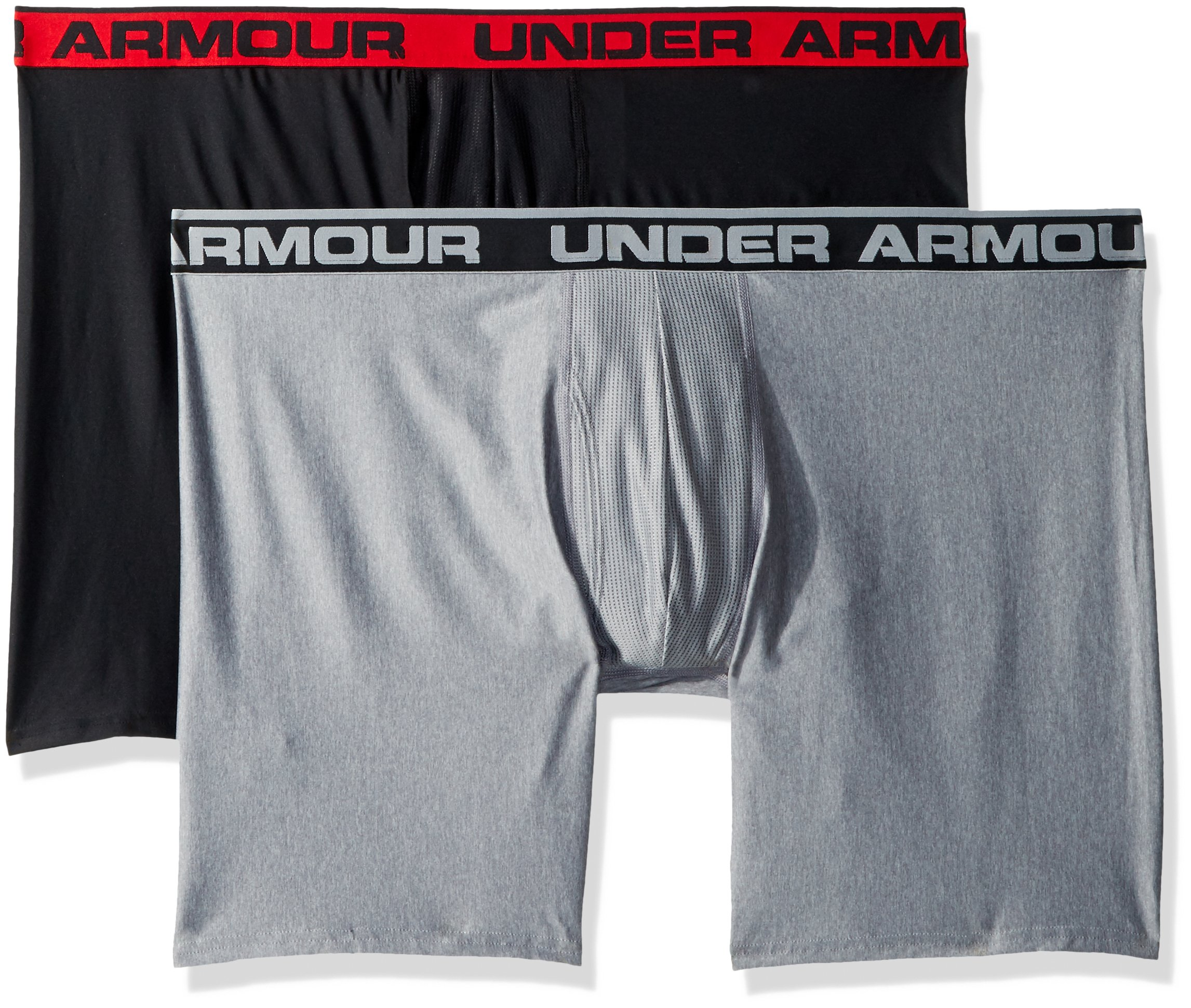 Under Armour Men's O-Series 9in Boxerjock (2 Pack), Black (001)/Black, Large by Under Armour