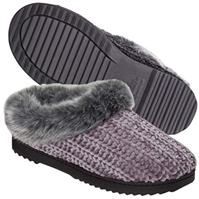 Dearfoams Women's Chenille Clog Slipper | Mules & Clogs