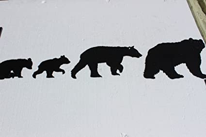 Amazon.com: Black Bear Set of 4 Metal Wall Art Home Decor: Home ...
