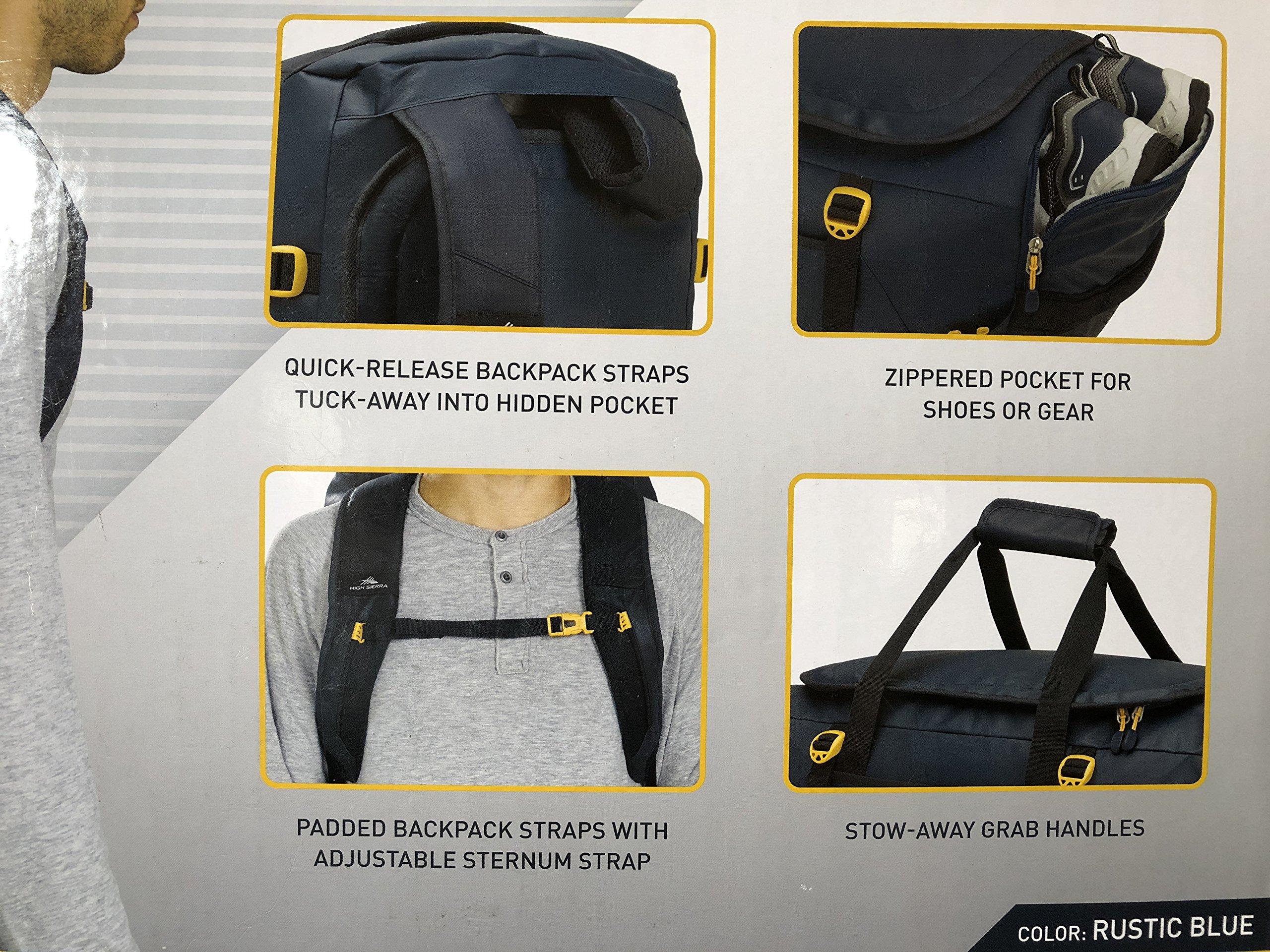 High Sierra 22'' Convertible Duffle Backpack, Rustic Blue by High Sierra (Image #2)
