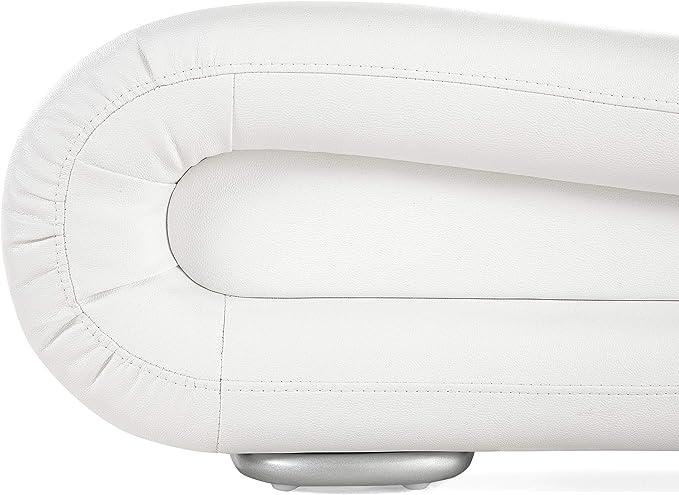 Cama de Piel - 160x200 cm - Color Blanco - con somier ...