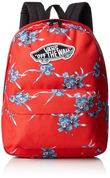 d096ad7212 Vans Realm Backpack Tomato Hawaiian  Amazon.ca  Clothing   Accessories