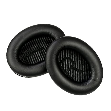 Replacement Ear Cushions for Bose Quiet Comfort 35 (QC35) and QuietComfort  35 II (QC35 II) Headphones  Complete with QC35 Shaped Scrims with 'L and R'