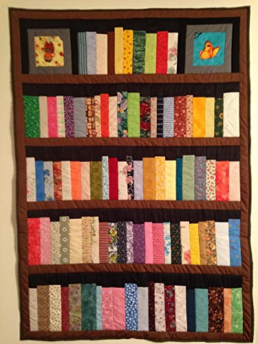 Amazon 40 Shelf Bookcase Quilt With A Butterfly And Flower Custom Bookshelf Pattern Free
