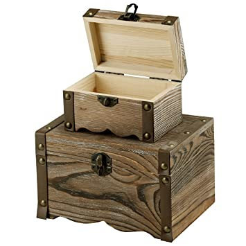 Amazoncom Decorative Antique Rustic Style Wooden Nesting Boxes