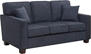 OSP Home Furnishings Russell 3 Seater Sofa, Navy