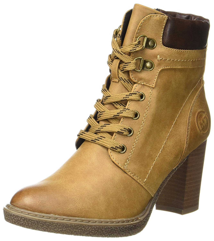 Marco Tozzi 25217, Botas Militar para Mujer Amarillo (Corn Antic Com)