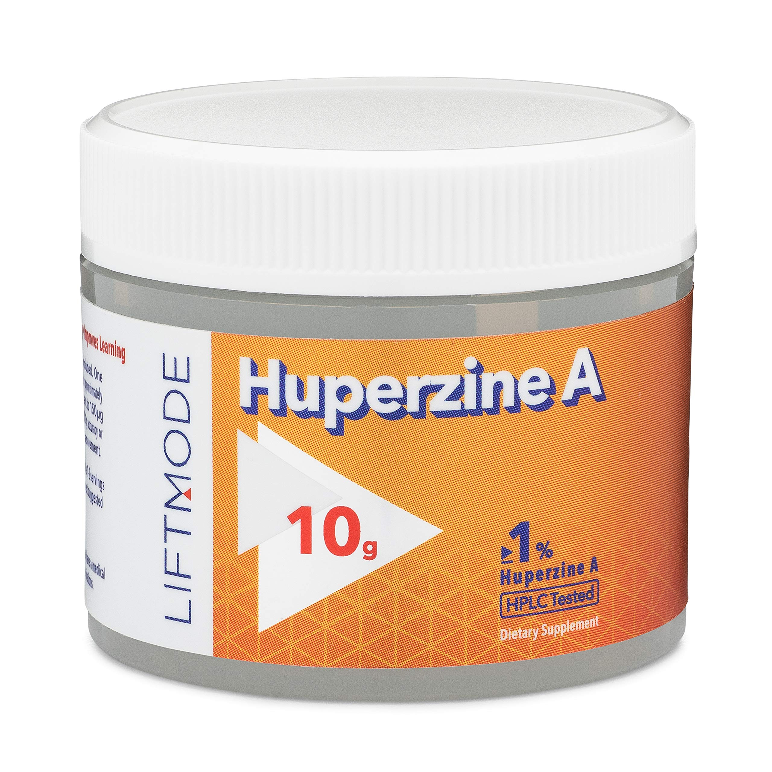 LiftMode Huperzine A Powder Supplement - Supports Focus & Cognition, Enhances Memory & Learning Ability, Huperzia Serrata Extract | Vegetarian, Vegan, Non-GMO, Gluten Free - 10 Grams (500 Servings) by LiftMode
