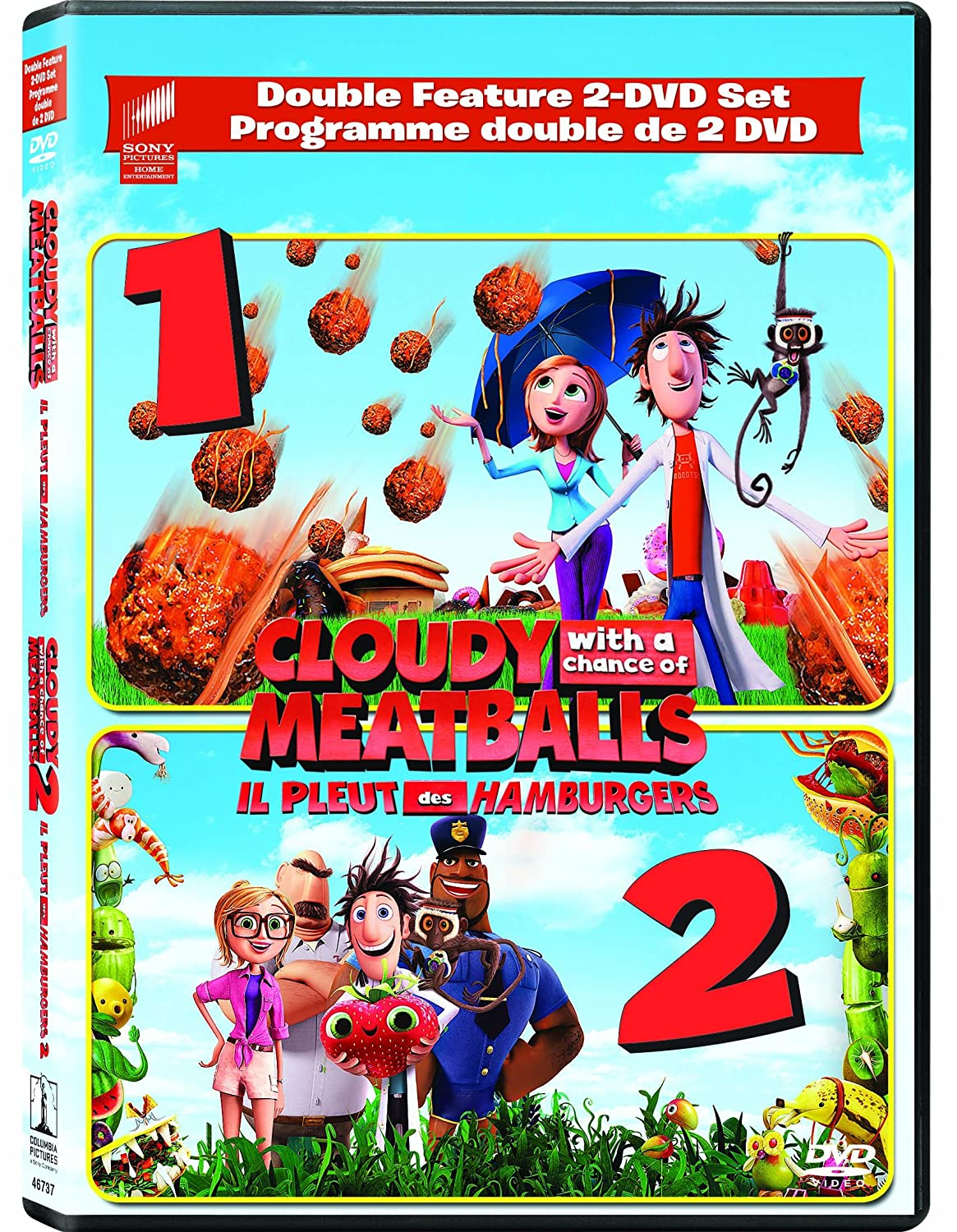 Amazon Com Cloudy With A Chance Of Meatballs 1 2 Double Feature 2 Dvd Set Bill Hader Anna Faris James Caan Andy Samberg Bruce Campbell Phil Lord Christopher Miller Cody Cameron Kris Pearn