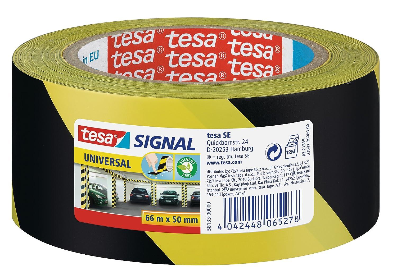 tesa Markierungs und Warnklebeband gelb-schwarz 66m x 50mm