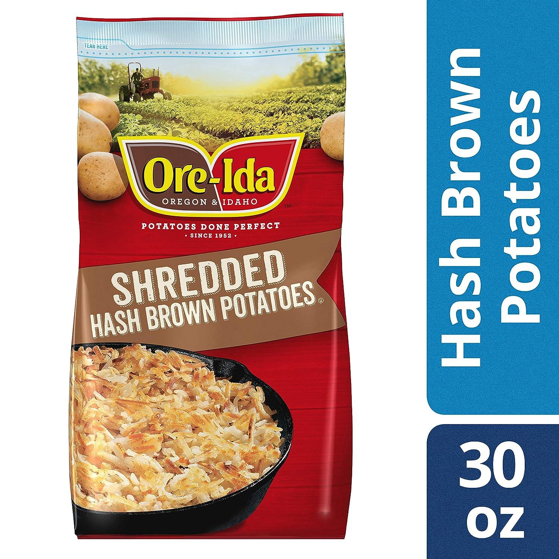 2b56e32e Ore-Ida Shredded Frozen Hash Browns (30 oz Bag)