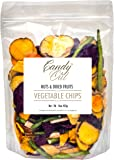 CandyOut Vegetable Chips 1 Pound Salted Vegetables in Sealed Reusable Bag