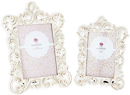 Amazon.com - Set of 2 Assorted Fashioncraft Vintage Style Ivory ...