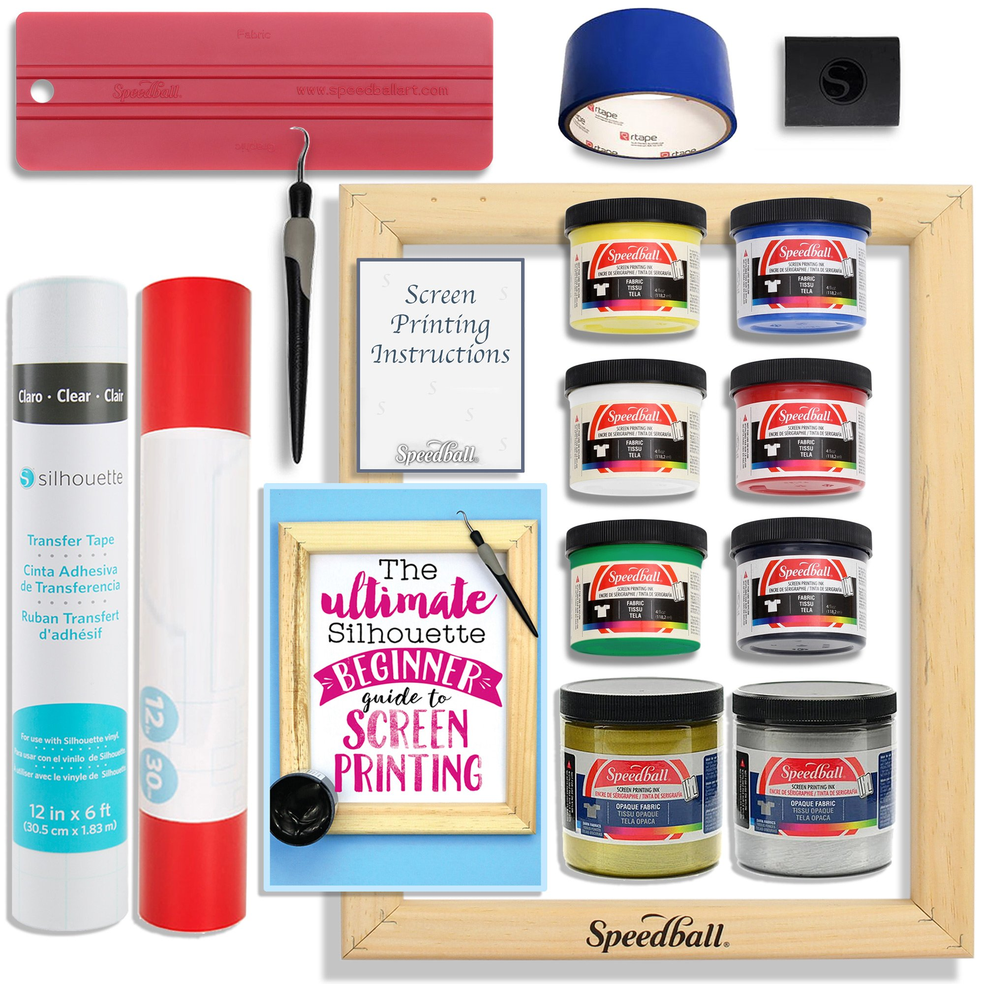 Silhouette Cameo Screen Printing Bundle with Extra Paints by Silhouette