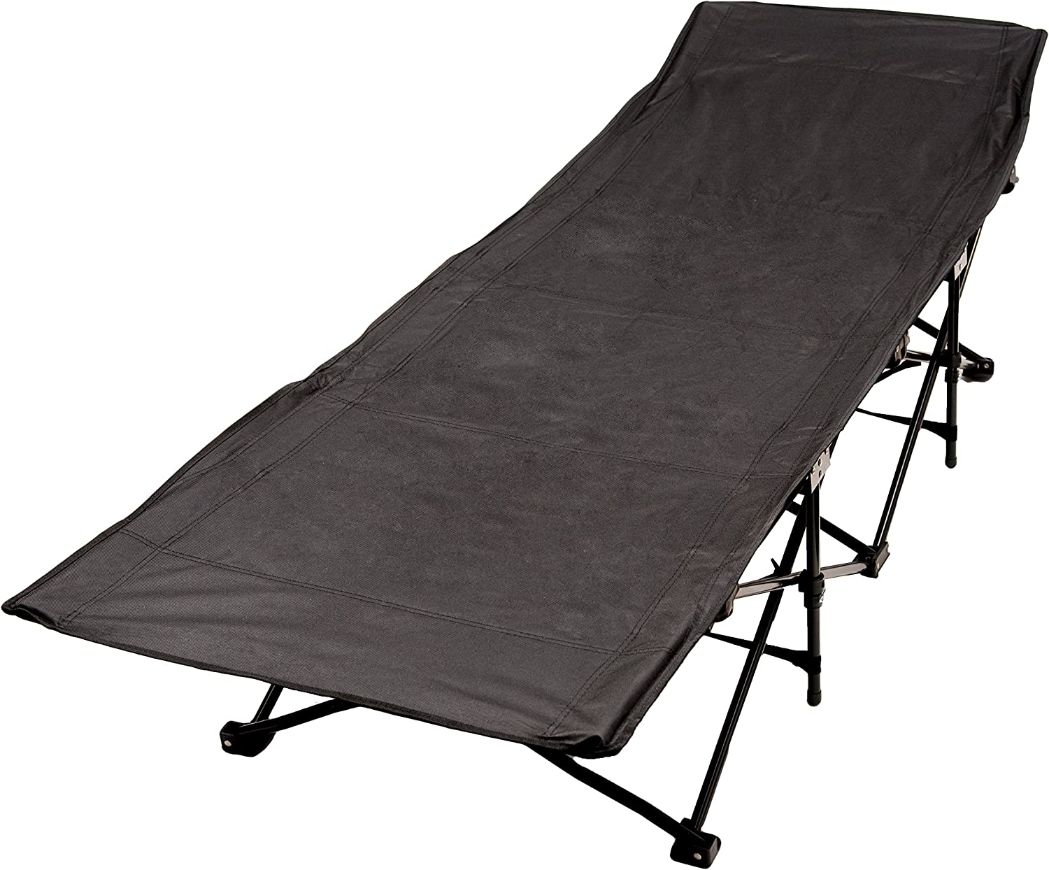 World Famous Sports Collapsible Camping Hunting Cot, Black