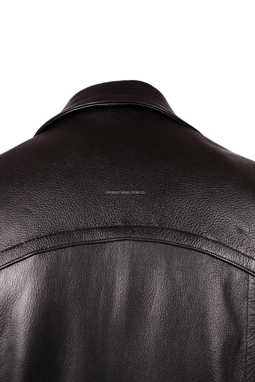 Mens KRIEGSMARINE Black Fashion Lambskin Leather Jacket