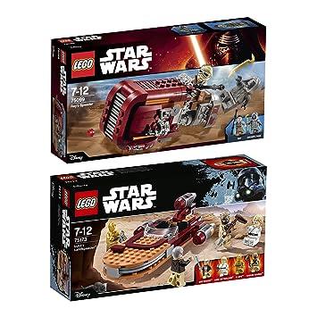 Lego Star Wars 2pcs Set 75099 75173 Reys Speeder Lukes