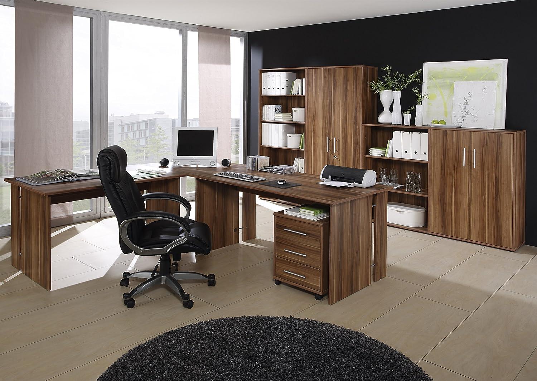 Büro Saturn, Büromöbel Set 8-tlg. Dekor Walnuß, Komplettbüro ...